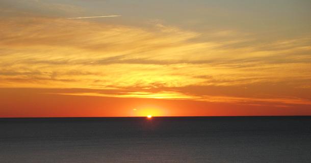 Sunrise Over the Ocean in Myrtle Beach